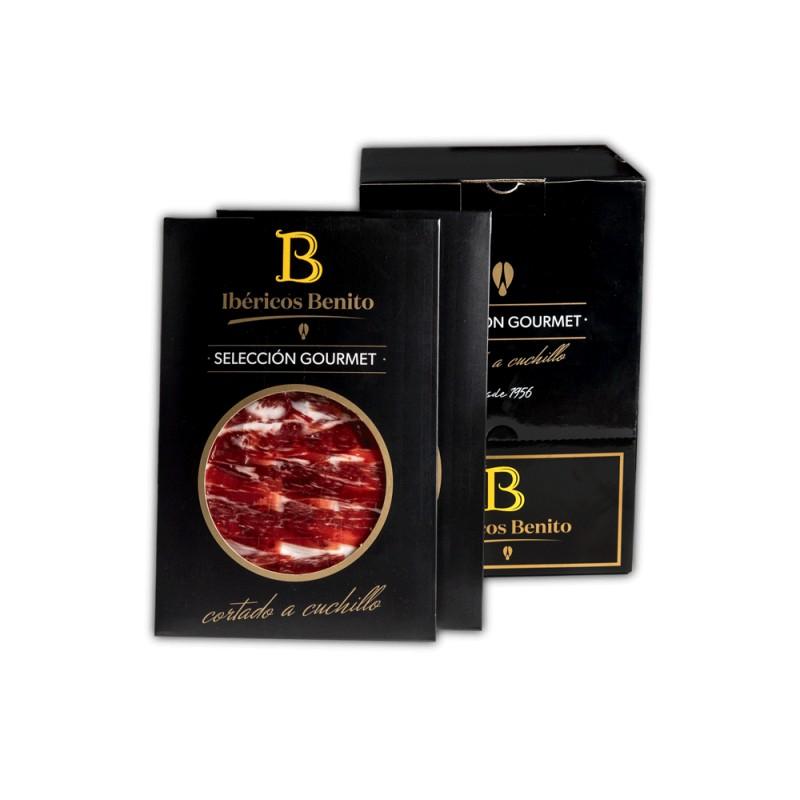 Une Épaule Etiqueta Negra  Benito coupé à la main et présenté en emballages de 100g.Pack 20 unid.Selección Gourmet