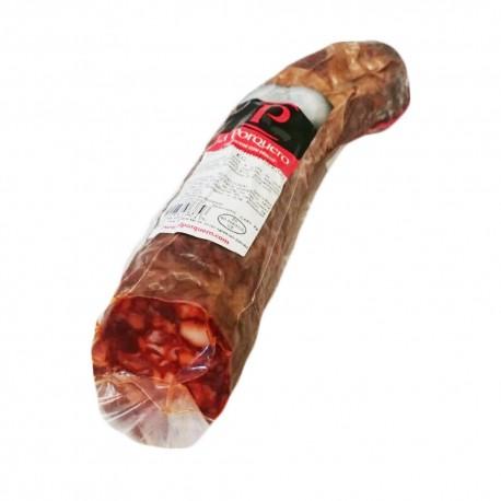 Chorizo Ibérico cular El Porquero ,Pieza de 0'6 kg.aprox.