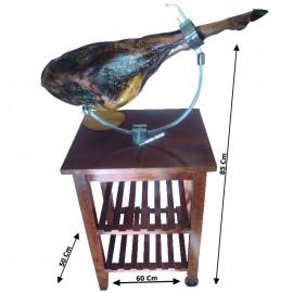 Table modèle Berceau Acajou