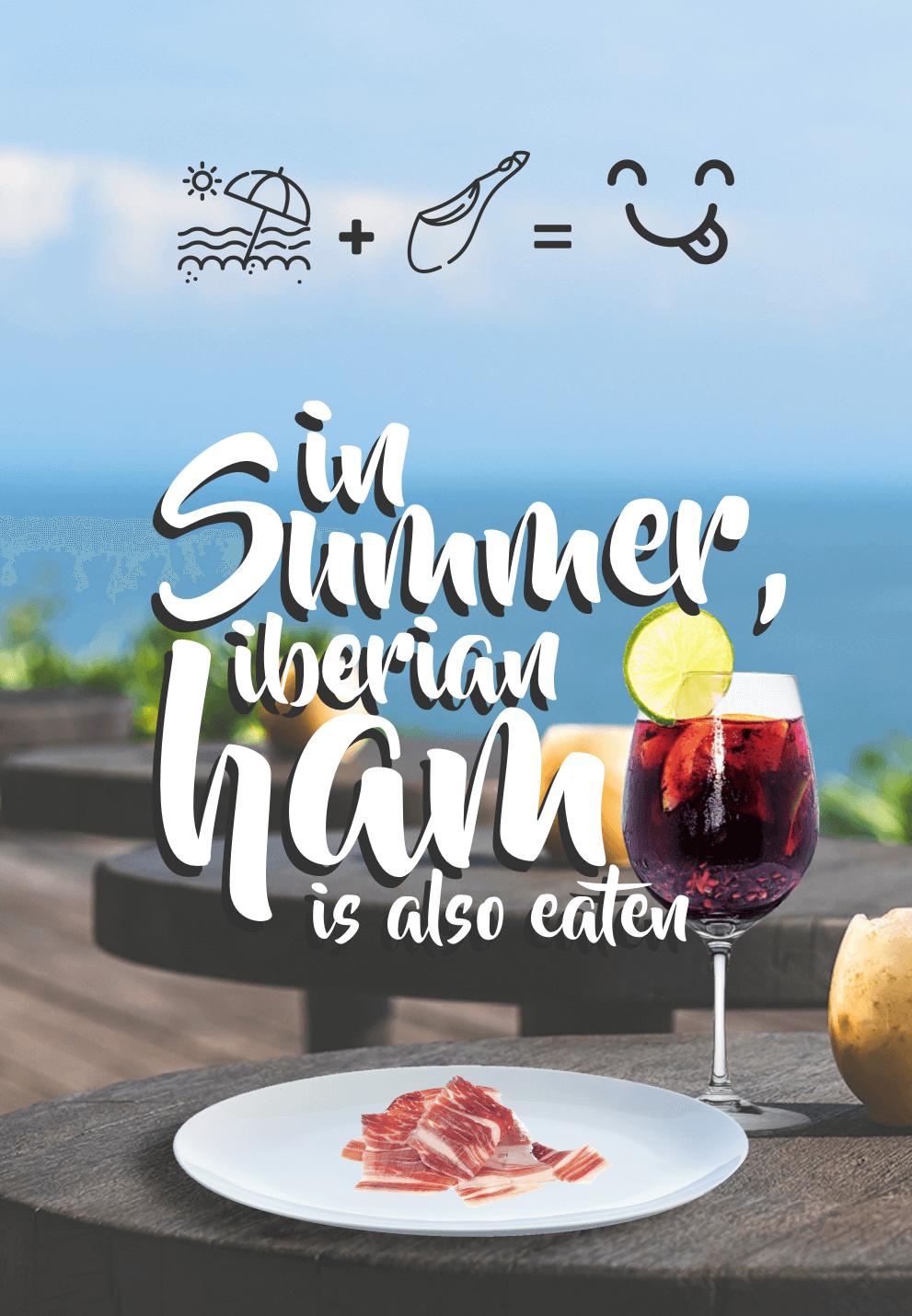 In summer, cured ham is also eaten